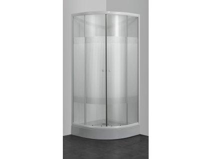 39770 sanotechnik stvrtkruhovy sprchovy kut sirka 80cm posuvne dvere