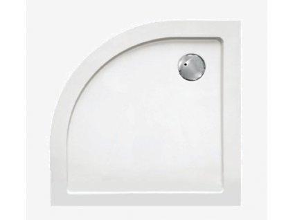 Sanotechnik sprchová vanička, SMC tvrdený polymér, štvrťkruh, 90cm, SC9090R (Nožičky S nožičkami (8ks))
