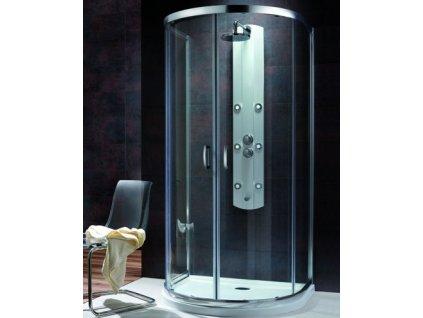 4346 radaway premium plus p sprchovy kut na rovnu stenu sirka 100cm posuvne dvere cire sklo 33300 01 01n