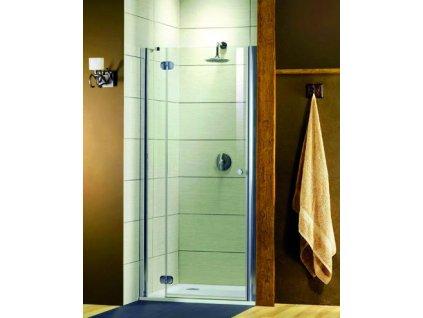 Radaway Torrenta DWJ sprchové dvere, šírka 80cm, otváravé, číre sklo (Umiestnenie dverí Pravé dvere)