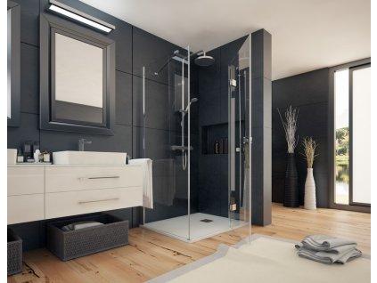 Aquatek Smart R13, obdĺžnikový sprchový kút, 100x80cm, otváravé dvere (Umiestnenie dverí Pravé dvere)