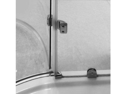 Aquatek Extra S5, štvrťkruhový sprchový kút, šírka 90cm, otváravé dvere (Farba skla Sklo frost)