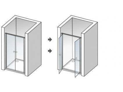 49034 aquatek lux b2 60 sprchove dvere sirka 60cm otvarave