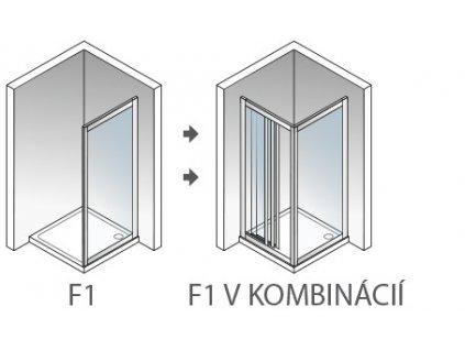 Aquatek Royal F1 80, pevná sprchová stena, šírka 80cm (Farba skla Sklo grape)