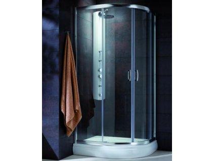 4919 radaway premium plus e1900 stvrtkruhovy asymetricky sprchovy kut 100x80cm posuvne dvere cire sklo 30491 01 01n