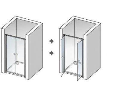Aquatek Family B02 70, sprchové dvere, šírka 70cm, otváravé dvojkrídlové (Farba skla Sklo číre)