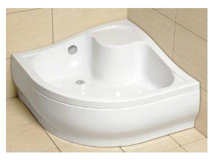 5132 radaway korfu a sprchova vanicka hlboka akrylat stvrtkruh 80cm 4s88400 03