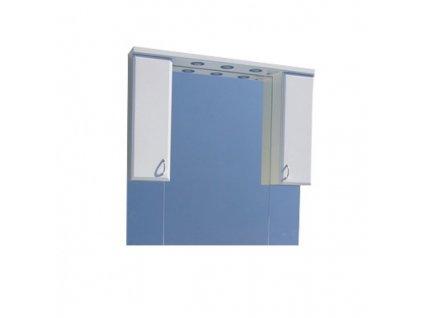 Sanotechnik Sanremo Lux 105 zrkadlo 101 cm s halogénovým osvetlením a dvomi skrinkami