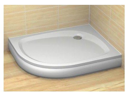 Radaway Patmos E sprchová vanička, akrylát, oblá 100x80cm (Umiestnenie Umiestnenie vpravo)
