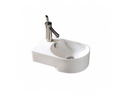 51848 sanotechnik umyvadielko zavesne keramicke 41x27x13 cm lave