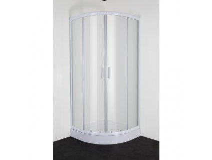 51947 sanotechnik sanodusch stvrtkruhovy sprchovy kut sirka 80cm posuvne dvere biely cire sklo