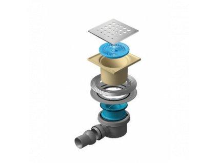 51995 sanotechnik odtokovy zlab sifon drops 1 confluo prietok do 49 l min