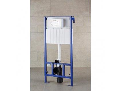 SP116 Sanotechnik Duofix podomietková nádrž pre závesné WC s tlačítkom biele