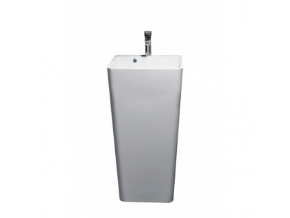 52064 sanotechnik volne stojace umyvadlo z liateho mramoru 45 x 44 5 x 83 cm