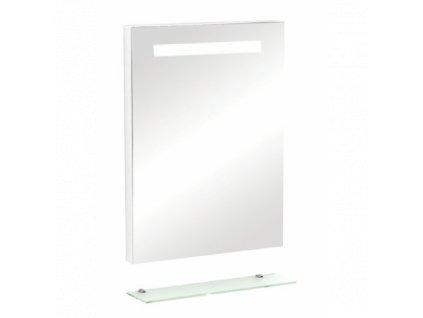 52100 sanotechnik zrkadlo s osvetlenim a polickou 60x80 cm