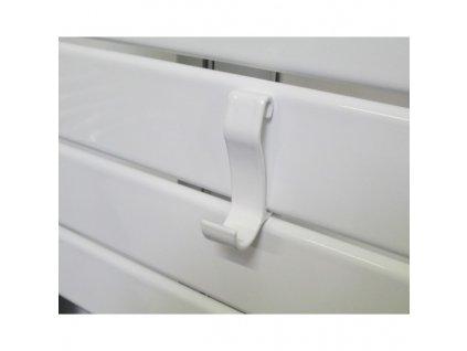 SZA02 Sanotechnik Salzburg háčik na župan pre ploché kúpeľnové radiátory, antracitový pre modely SA108, S138