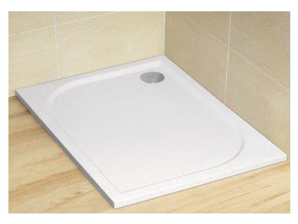 Radaway Paros D sprchová vanička, liaty mramor, obdĺžnik 120x80cm, MBD8012-03-1 (Čelný panel S čelným a bočným panelom)