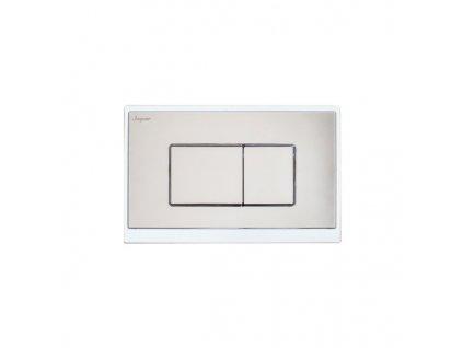 SP261 Sanotechnik Klaros splachovacie tlačítko biela chróm pre nádrže Sanotechnik SP114, SP116, SP200
