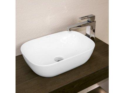 52607 lavita costa umyvadlo na dosku keramicke miska 45 5x32 5 cm slim dizajn bez prepadu biele