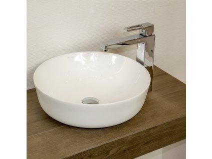 52619 lavita cordoba umyvadlo na dosku keramicke miska kruhove 41 5 cm slim dizajn bez prepadu biele