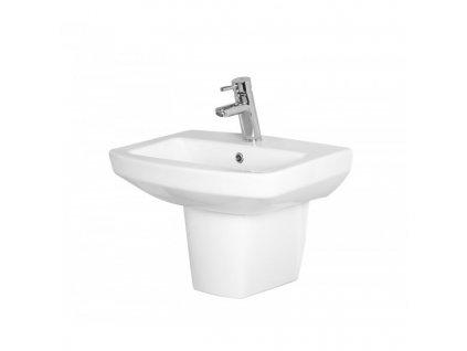 GV210 Sanotechnik Nero umývadlo keramické závesné 54,5 x 40,6 x 17 cm