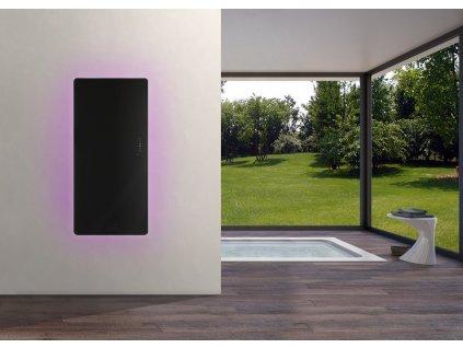 RES100 RES152 Sanotechnik E Rom elektrický radiátor do kúpeľne dizajnový, čierny 02
