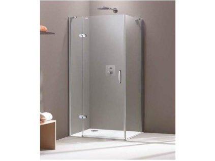 HUPPE Aura sprchový kút štvorcový, šírka 100cm, 400303092322 + 400605092322 (Umiestnenie dverí Pravé dvere)