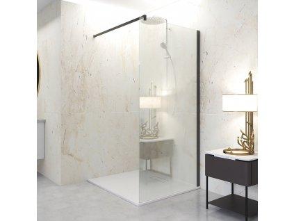 Aquatek Oasis Black F1, pevná sprchová stena, šírka 80 140cm 01