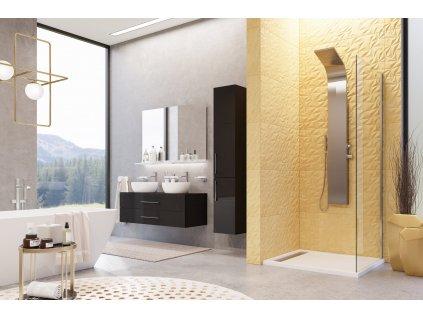 Aquatek Yes F1, pevná sprchová stena, šírka 70 120cm 01