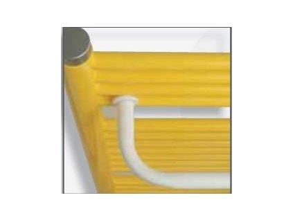 Očenášek BN, vešiak biely pre rovný radiátor (Rozmer 750mm)