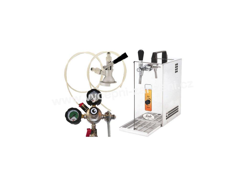 Pivní chlazení PYGMY 25 - komplet red. ventil N2 PLOCHÝ  + Alkoholtester zdarma