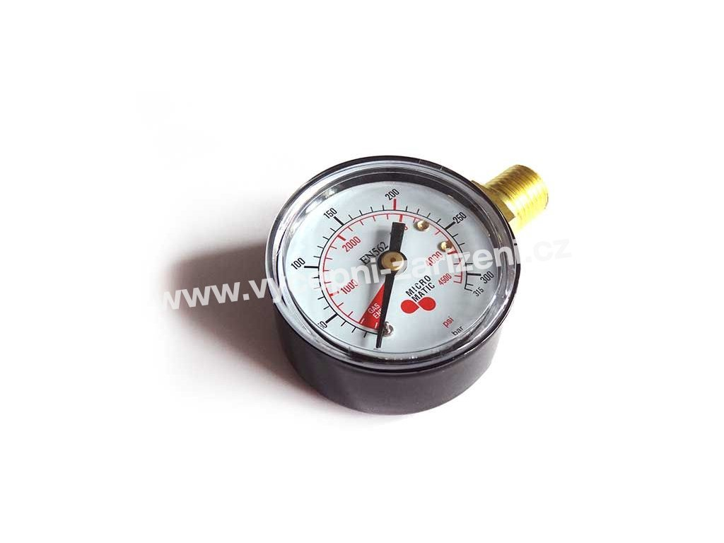 red ventil manometr tlak v lahvi co2 n2