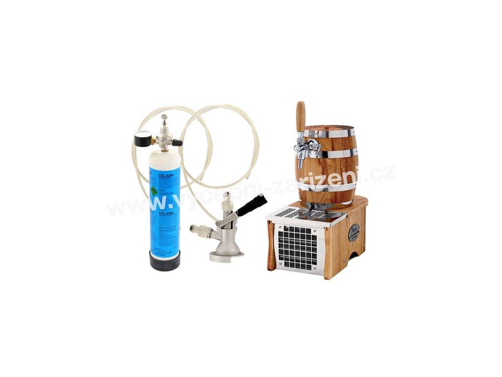 Luxusní pivní chlazení SOUDEK 1/8HP - komplet bombička CO2 PLOCHÝ  + Alkoholtester zdarma
