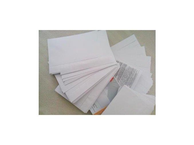 Plnění získaných obálek letáky - práce na doma