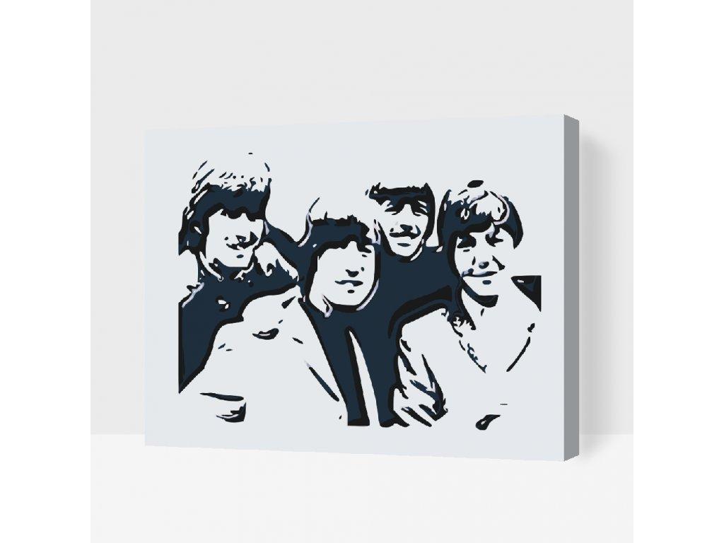 Malování podle čísel - Beatles (Rámování Bez rámu (pouze plátno), Velikost 40x50cm)