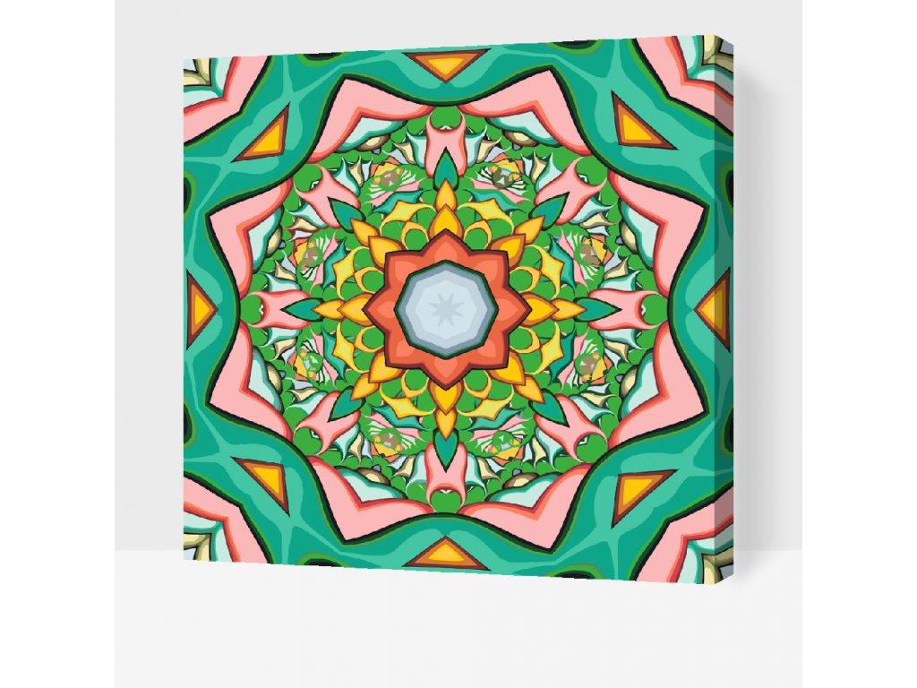 Malování podle čísel - Mandala1 (Rámování Bez rámu (pouze plátno), Velikost 50x50cm)