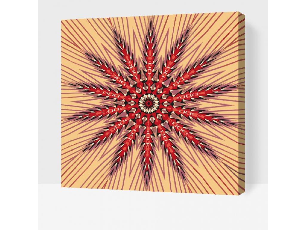 Malování podle čísel - Mandala5 (Rámování Bez rámu (pouze plátno), Velikost 50x50cm)
