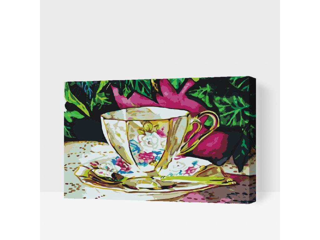 Malování podle čísel - Malovaný keramický šálek (Rámování Bez rámu (pouze plátno), Velikost 40x60cm)