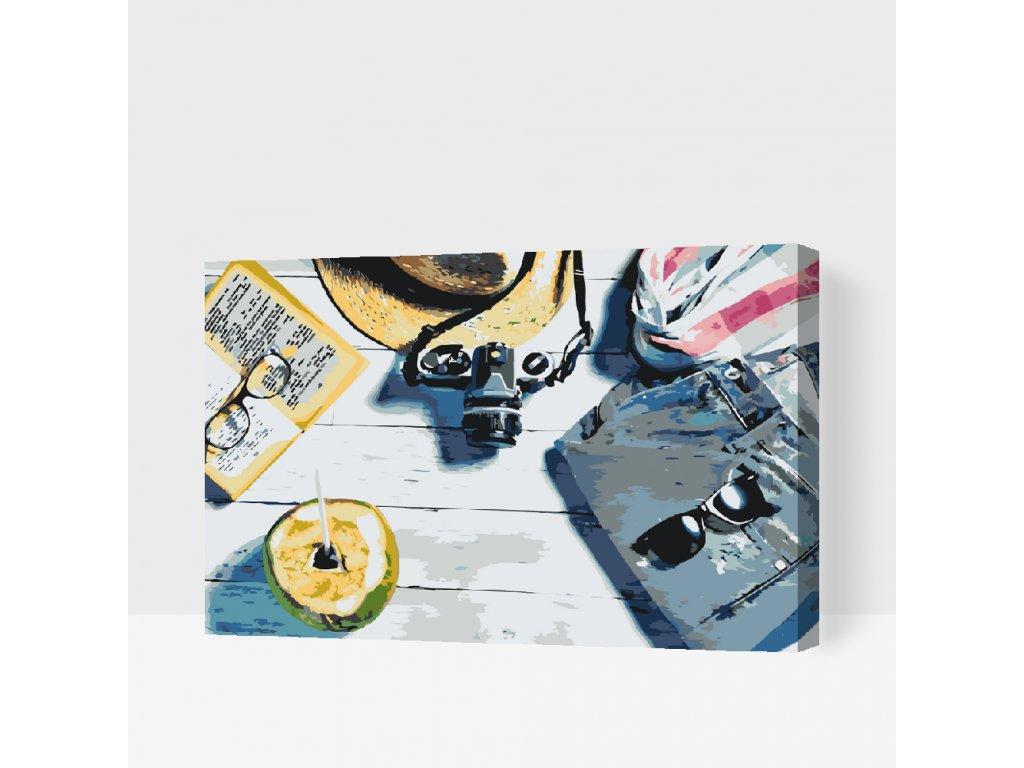 Malování podle čísel - Letní dovolená (Rámování Bez rámu (pouze plátno), Velikost 40x60cm)