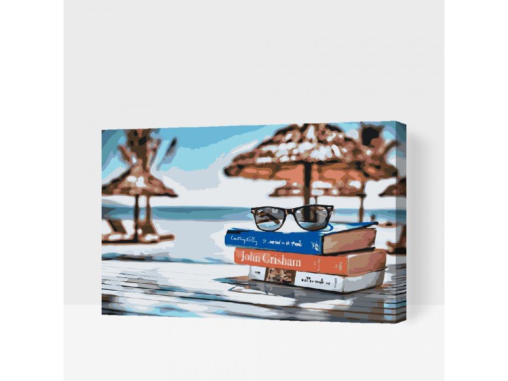 Malování podle čísel - Dovolenkový relax (Rámování Bez rámu (pouze plátno), Velikost 40x60cm)