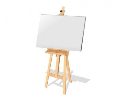 Prázdné malířské plátno na rámu + 24 barev (Velikost 80x120cm)