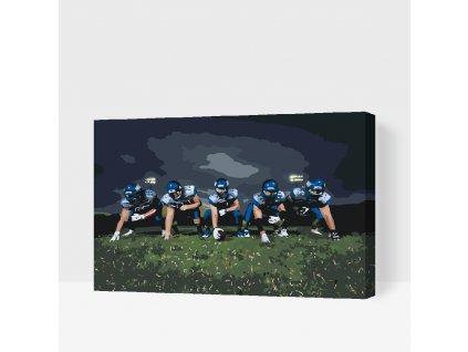 Malování podle čísel - Americký fotbal (Rámování Bez rámu (pouze plátno), Velikost 40x60cm)