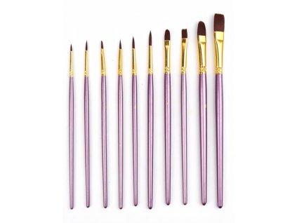 1019 sada umeleckych stetcov fialove 10ks