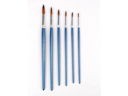 Sada umeleckých štetcov - Modré 6ks