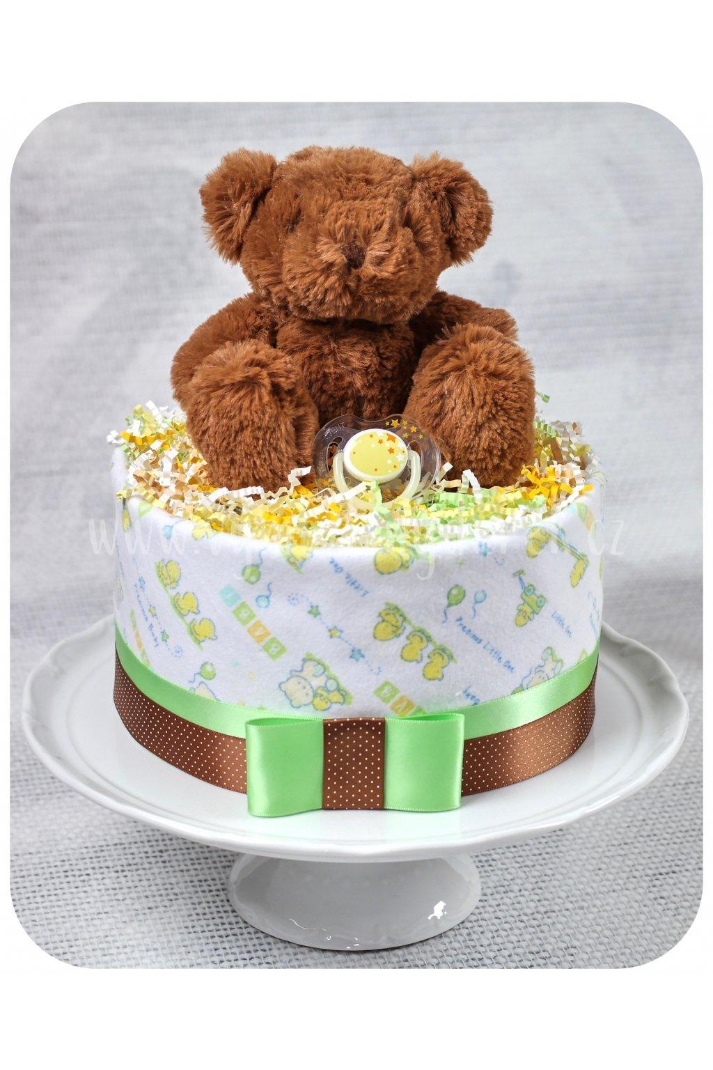 Jednopatrový plenkový dort Bruno 2