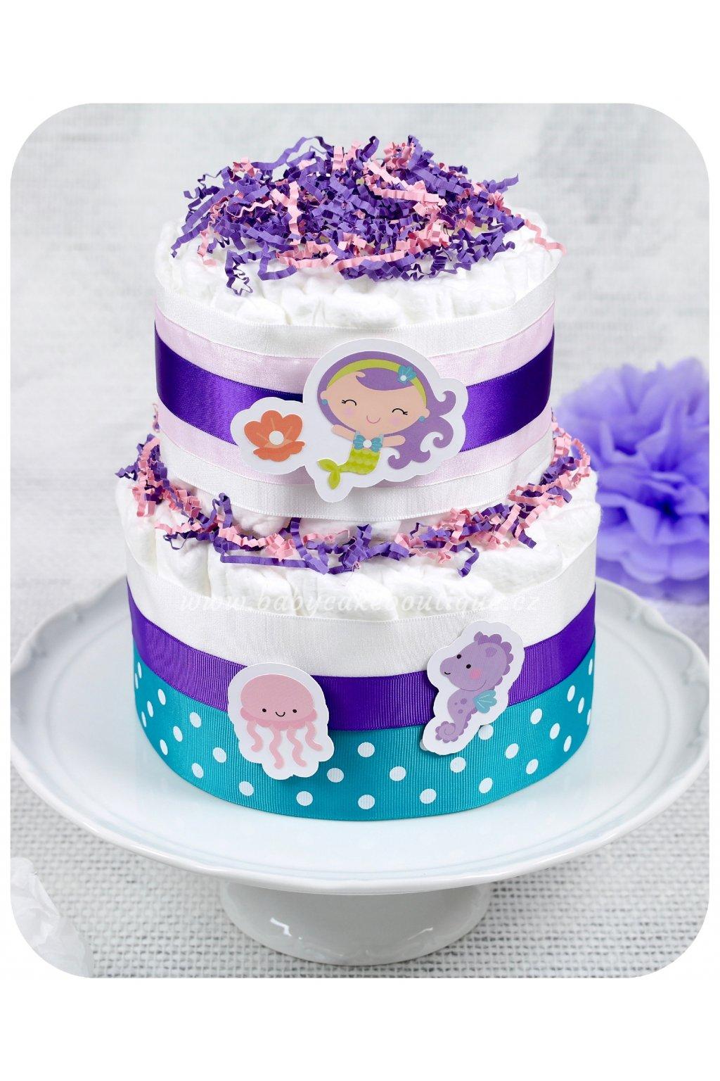 Dvoupatrový plenkový dort Mořský svět