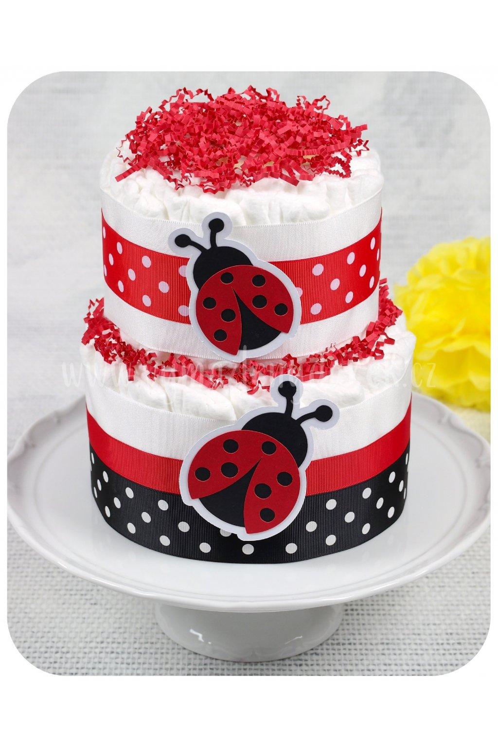 Dvoupatrový plenkový dort Berušky