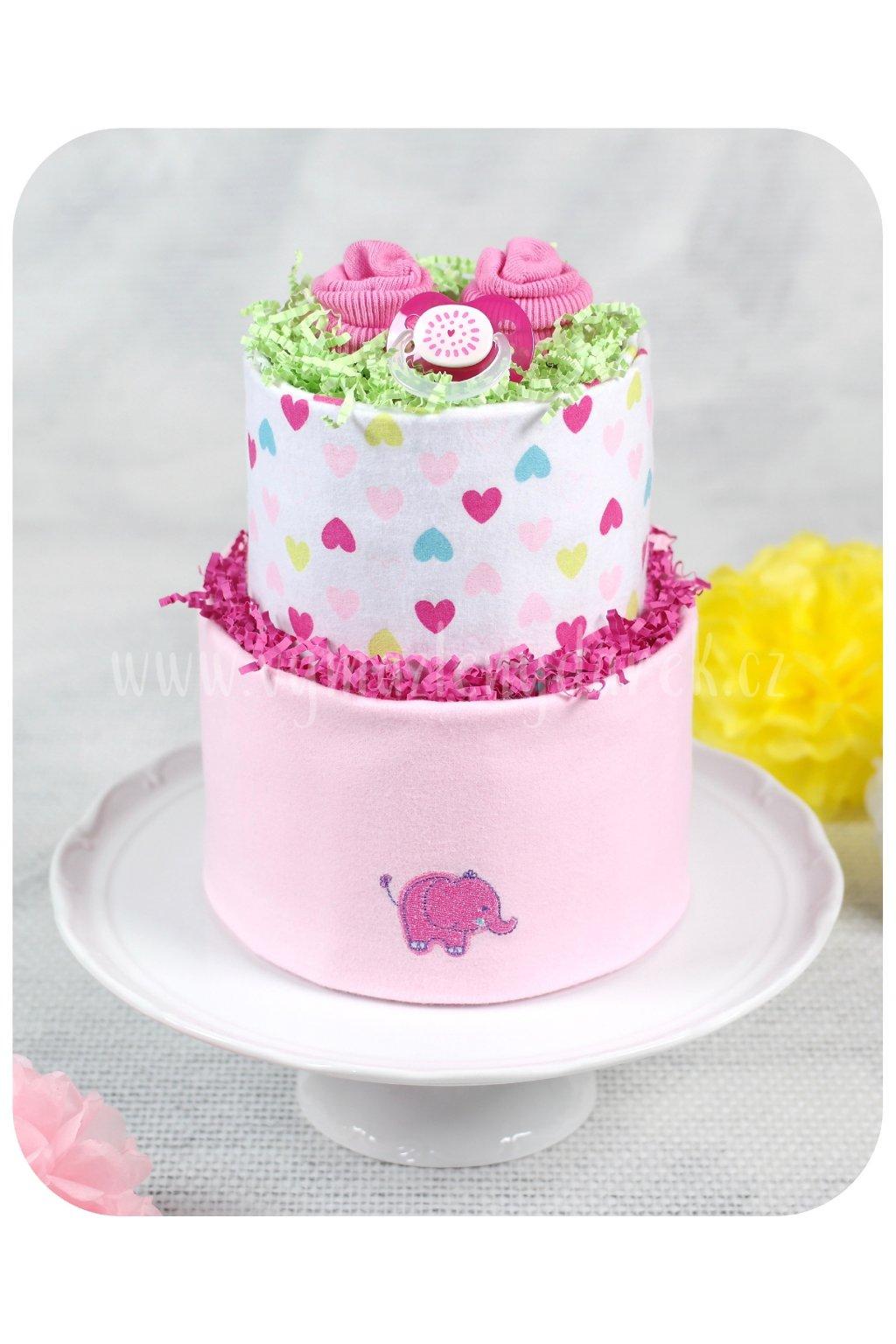Dvoupatrový plenkový dort Evelína