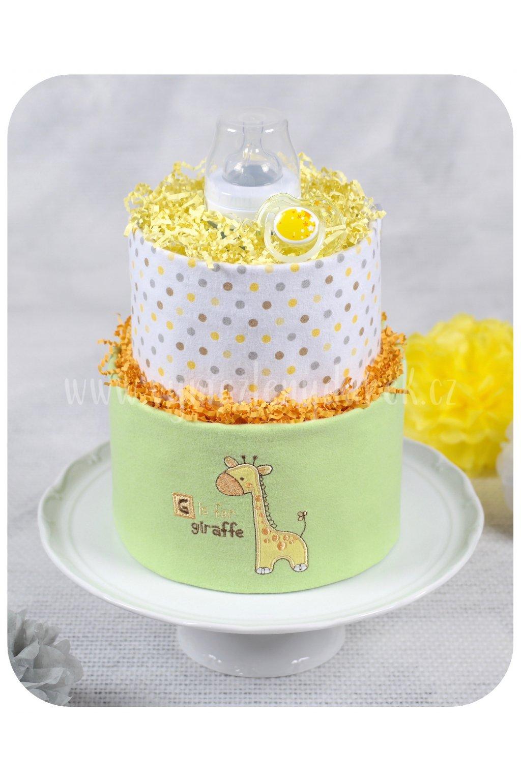 Dvoupatrový plenkový dort Johanka