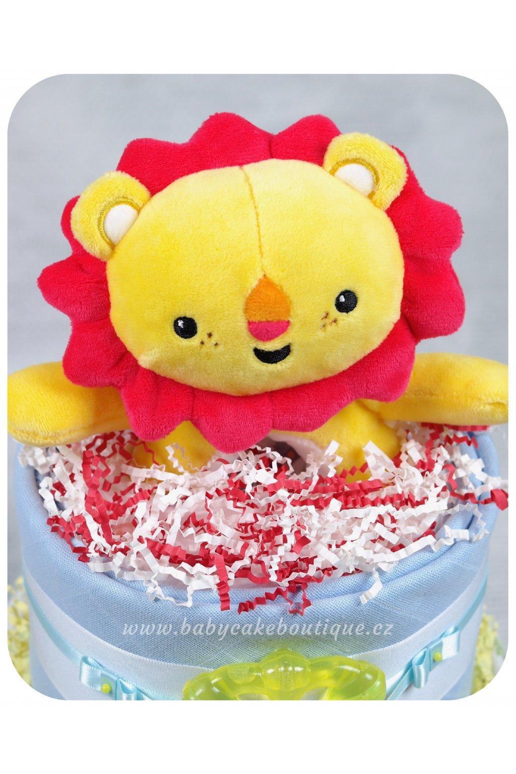 Dvoupatrový plenkový dort Samuel detail 3